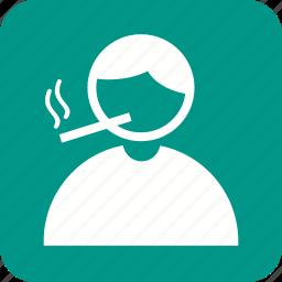 addiction, cigarette, health, man, nicotine, smoke, smoking icon