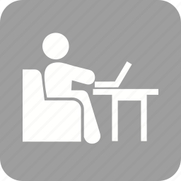 business, businessman, computer, laptop, technology, work, working icon