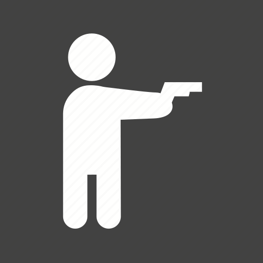 crime, gun, hand, hold, pistol, safety, weapon icon