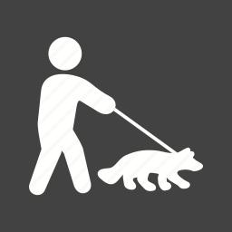 dog, green, park, pet, summer, walk, walking icon