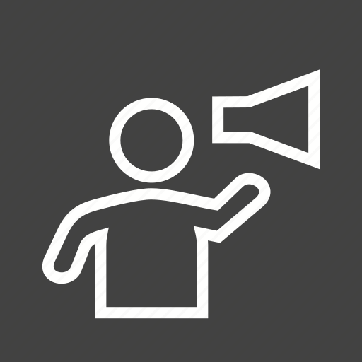 announcement, loud, megaphone, shout, shouting, speaker, voice icon