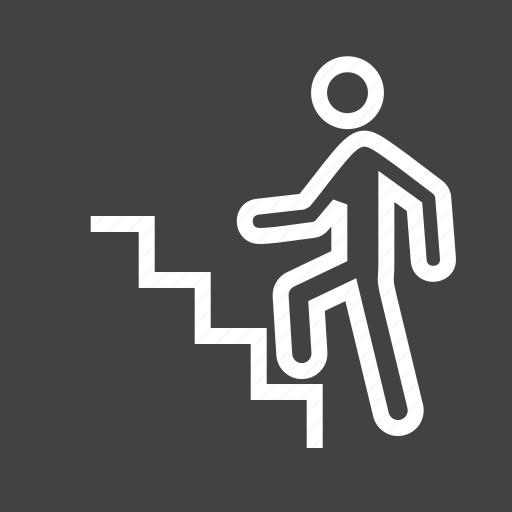 climb, climbing, stairs, step, success, walking icon