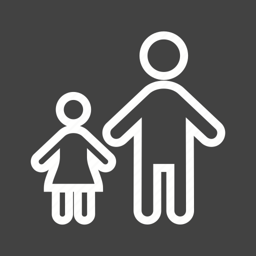 child, children, family, girl, happy, kids, standing icon