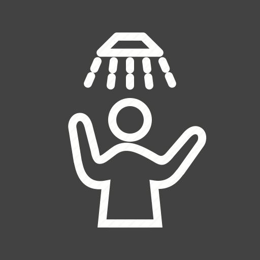 bath, bathing, hair, shower, washing, water, wet icon