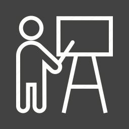 classroom, presentation, professor, students, teacher, teaching icon