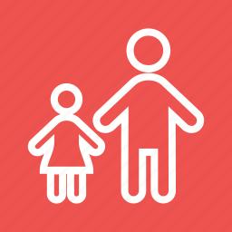 child, children, family, girl, happy, kids, standing icon