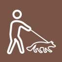 dog, green, park, pet, summer, walk, walking icon