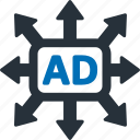 ad, direction, location, arrow