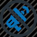 ad, prohibited, media, multimedia, promotion icon
