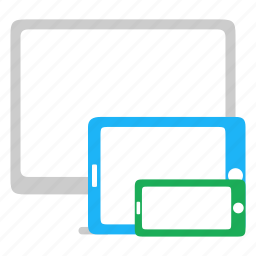 adaptive, desktop, devices, responsive icon