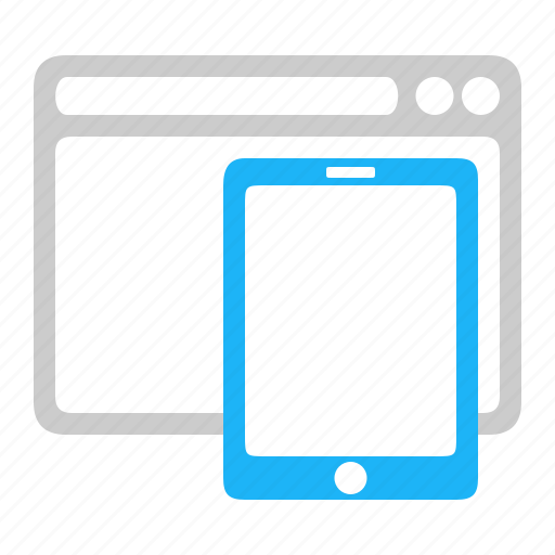 adaptive, browser, responsive, tablet icon