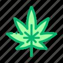 green, hemp, leaf, plant icon