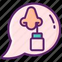 addiction, nasal, nose, spray icon