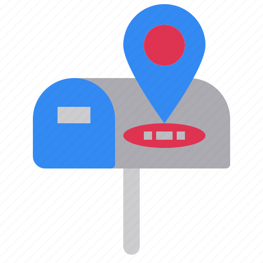 box, mail, position, site, web, where icon