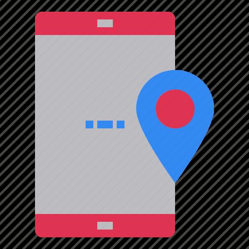 position, site, smartphone, web, where icon