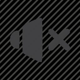 mute, sound icon
