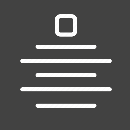 arrangement, centralized, design, display, layout, preferences, structure icon
