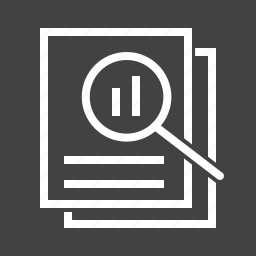 chart, data, documents, file, information, report, search icon