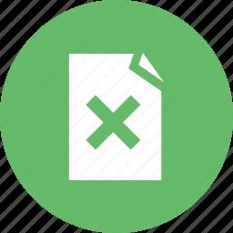 cancel, close, cross, delete, recycle, remove, trash icon