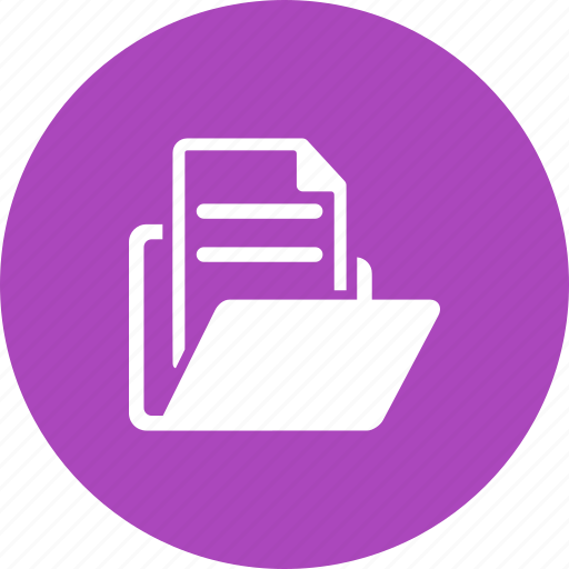 documents, files, folder, information, record, reports, secure icon
