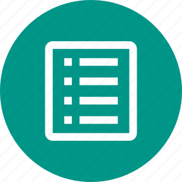 bulleted list, checklist, document, list, list view, numbered, tasks icon