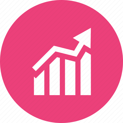 Arrow, bar chart, chart, finance, graph, report, statistics icon - Download on Iconfinder