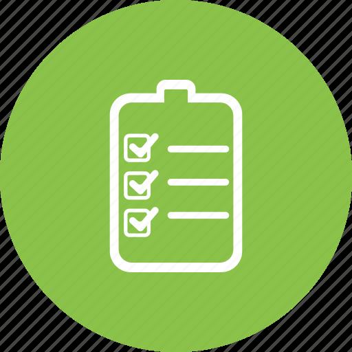 Chart, checklist, details, document, list, responsibility, tasks icon - Download on Iconfinder