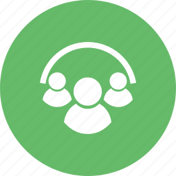 agents, clients, group, linked, people, team, users icon