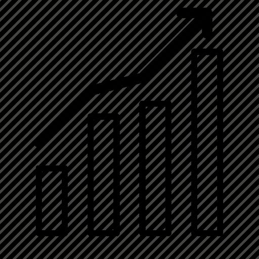 chart, revenue, statistics, stats icon