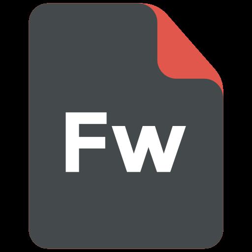 adobe, extension, fireworks, format icon icon