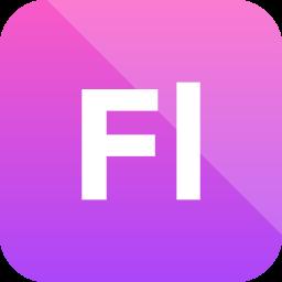 adobe, extension, flash professional, format icon icon