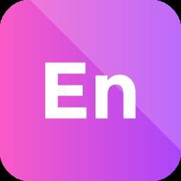 adobe, encore icon, extension, format icon