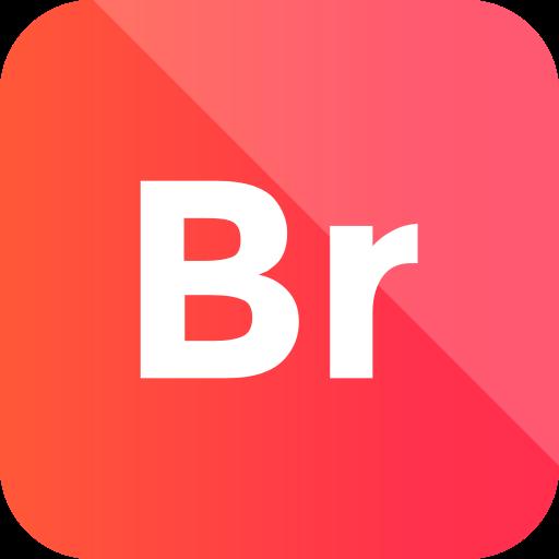 adobe, bridge, extension, format icon icon