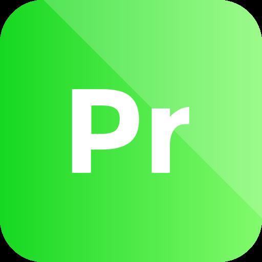 adobe, extension, format, premiere pro icon icon