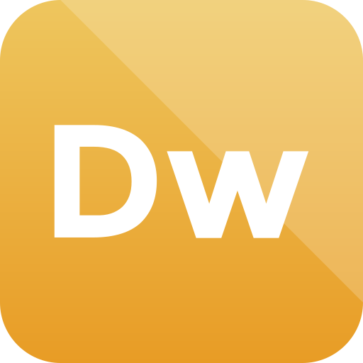 adobe, dreamweaver, extension, format icon icon