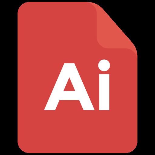 adobe, extension, format, illustrator icon icon