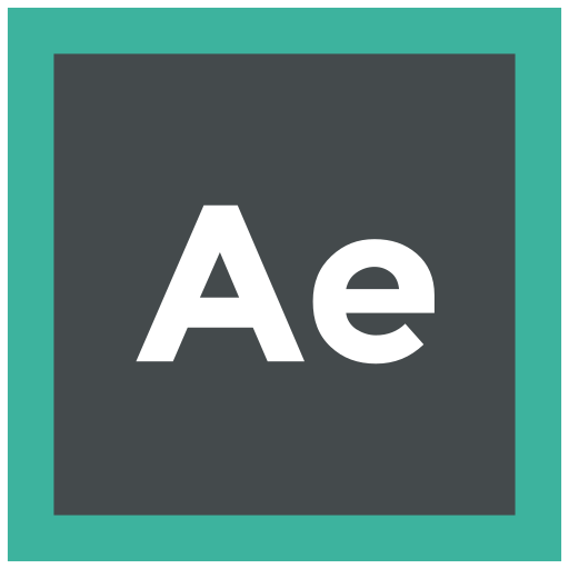 adobe, after effects, extension, format icon icon