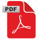 acrobat, adobe, document, file, format, pdf icon