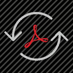 acrobat, api, arrows, load, loading, pdf icon