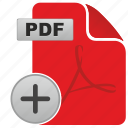 add, adobe, api, document, file, format, pdf icon