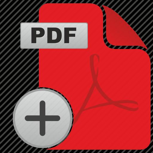 add, adobe, api, document, file, format, pdf icon
