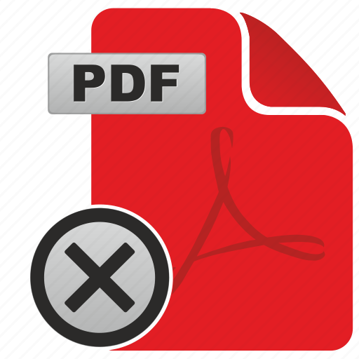 api, cancel, close, document, exit, file, pdf icon