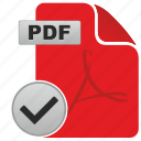 accept, api, complete, document, file, ok, pdf icon