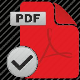 accept, api, complete, document, file, ok, pdf icon