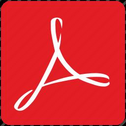 acrobat, adobe, api, app, document, pdf, square icon
