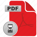 adobe, api, file, load, loading, pdf, time icon