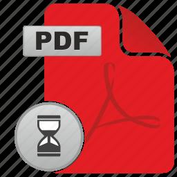 adobe, api, file, load, loading, pdf, time icon
