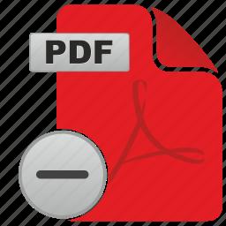 acrobat, api, cut, document, file, minus, pdf icon