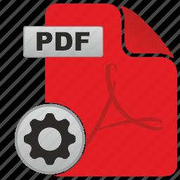 acrobat, adobe, api, gear, options, pdf, settings icon