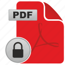 acrobat, adobe, api, lock, password, pdf, protect icon